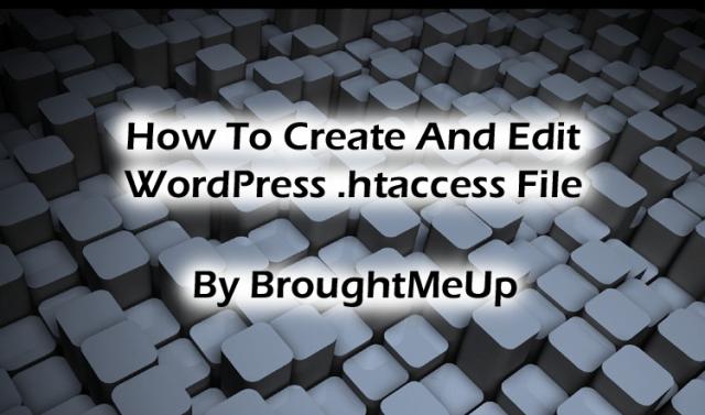 create and edit WordPress .htaccess file