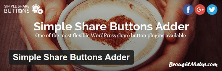 best wordpress social media sharing simple share buttons adder plugin