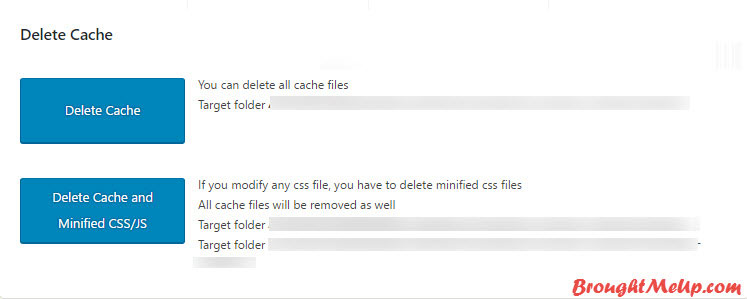 Delete Cache In WP Fastest Cache