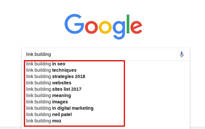 lsi google autocomplete