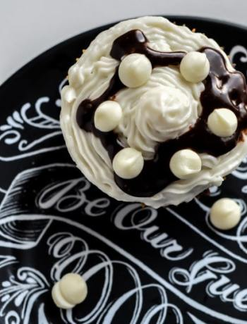 Be Our Guest Restaurant at Walt Disney World inspired Chocolate Cupcake Recipe. Make some magic in the kitchen with this sweet dessert!
