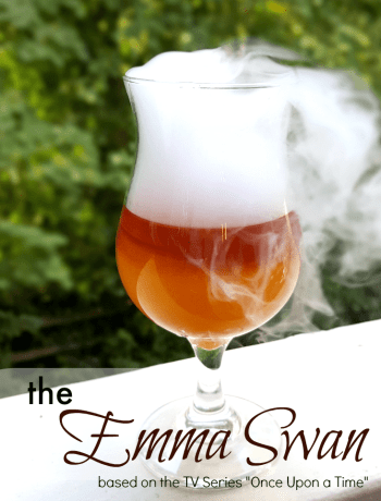 The Emma Swan - a Once Upon a Time TV series themed cocktail. Great drink recipe for parties and even fun this Halloween.