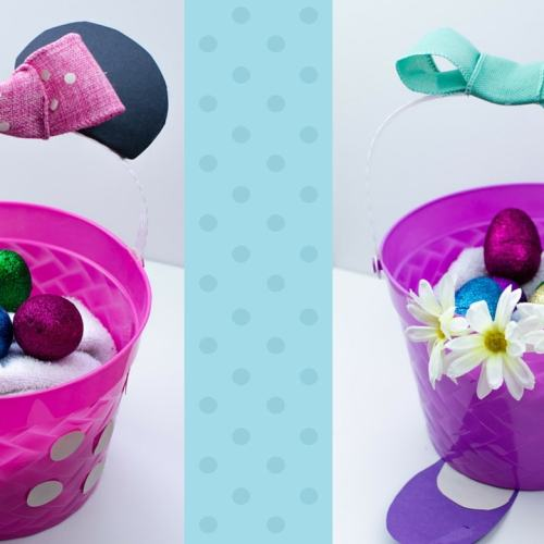 DIY Minnie Mouse and Daisy Duck Inspired Easter Baskets