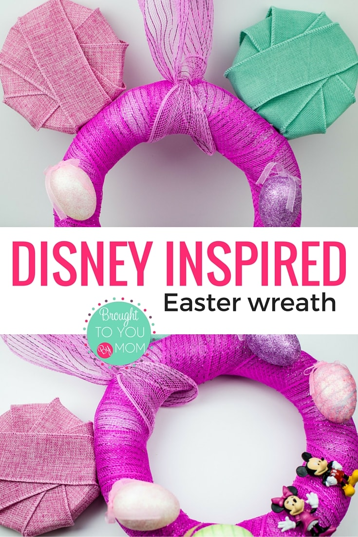 Disney Inspired Easter Wreath. A simple tutorial for fun door decor in your home.