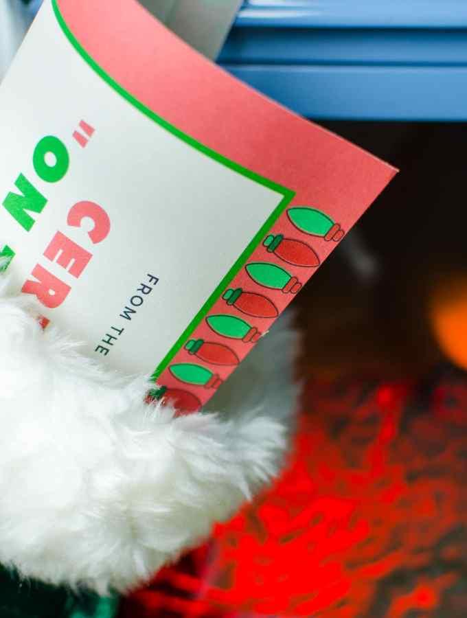 Free Santa Good List Certificate