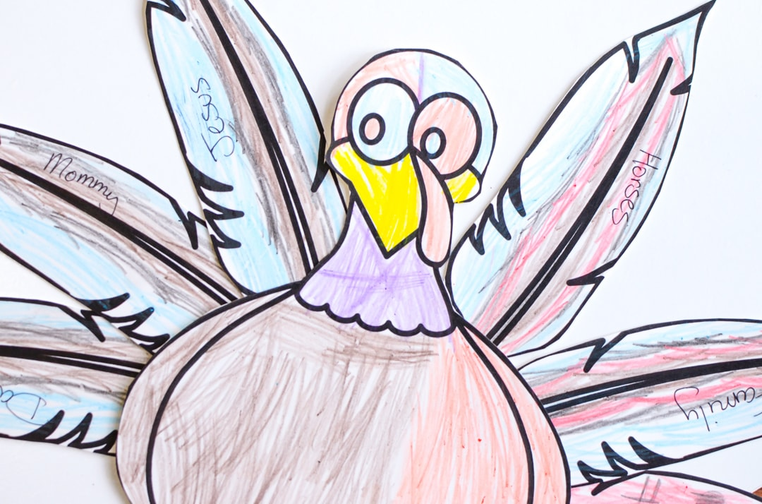 Thanksgiving Thankful Turkey is a printable craft for kids that is a simple way to remind our children what they are thankful for and to be thankful.