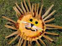 Lion Mask Paper Plate Craft - How to Make a Paper Plate ...