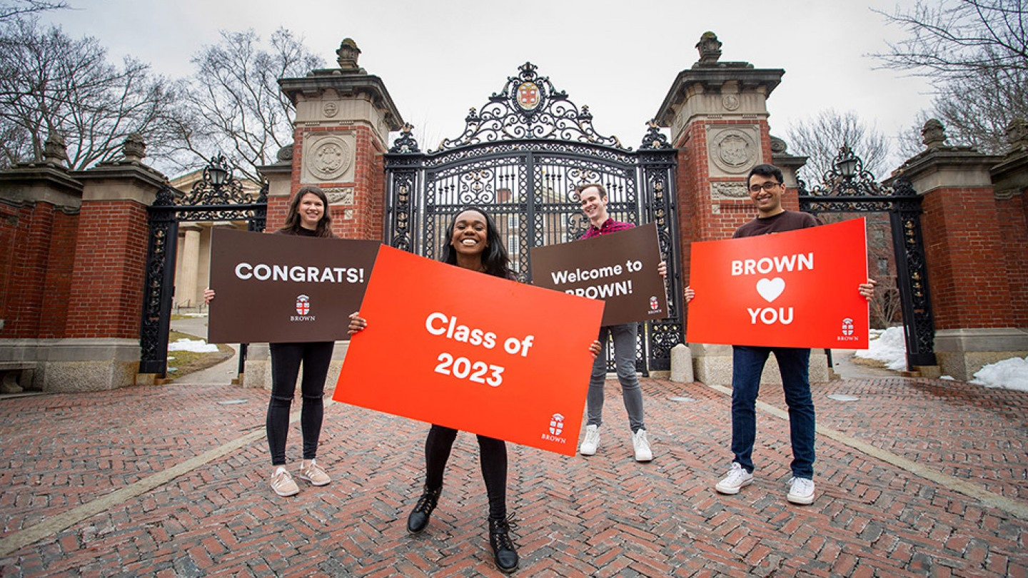 Brown admits 2.551 students to the undergraduate Class of 2023   Brown University