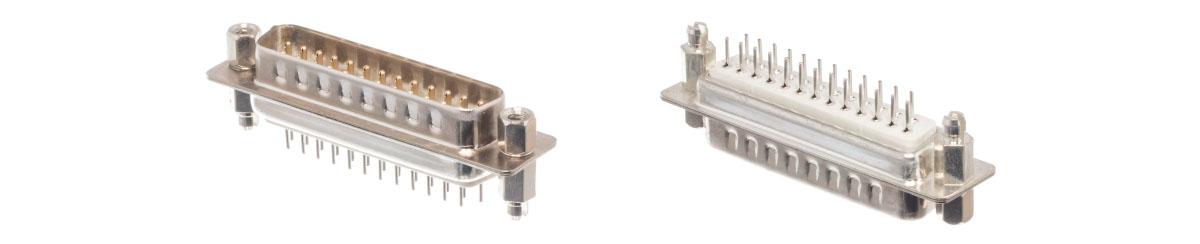 Conectores Dsub en el tablero vertical