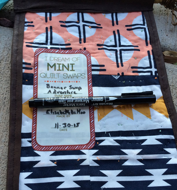 Mini Quilt Swap Labels I offer as a free download