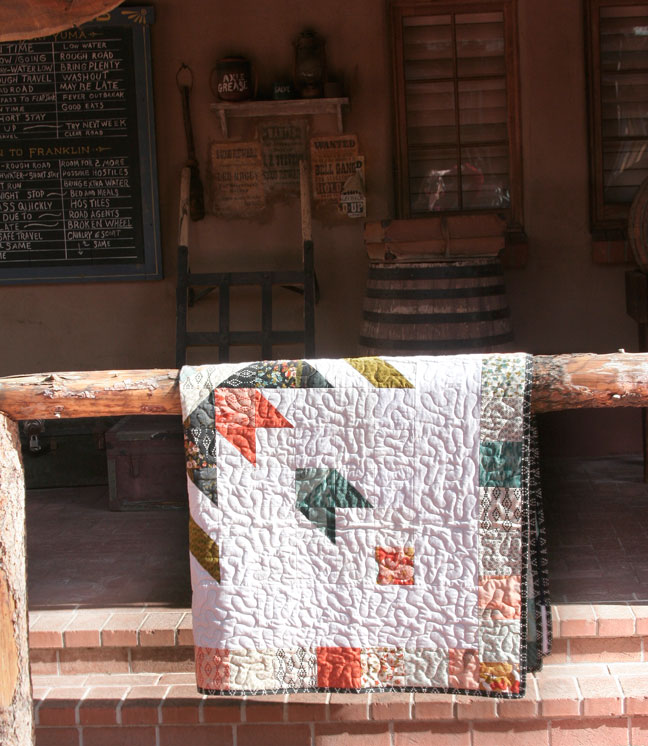 one-fourth of quilt shown here