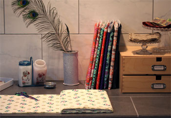 fabric boards help organize quilt fabric