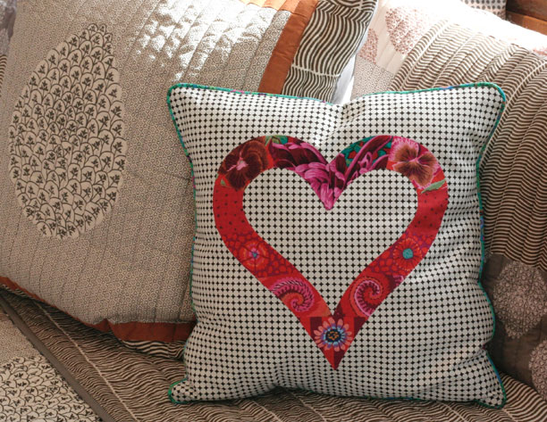 Heart pillow by Joy