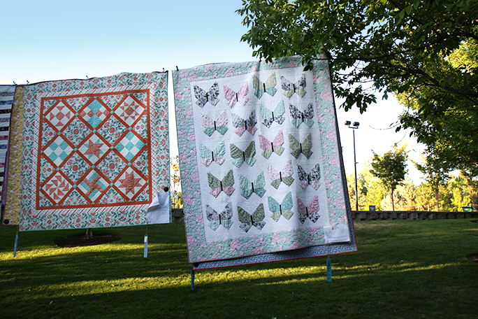 My Butterfly Quilt at the Garden of Quilts