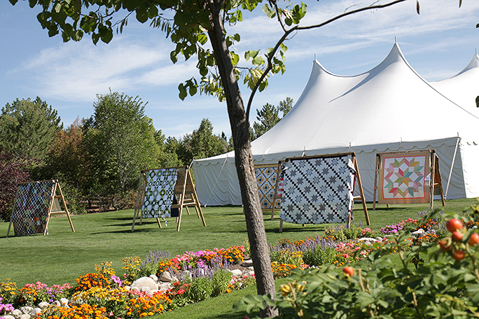 Tents at the Garden of Quilts