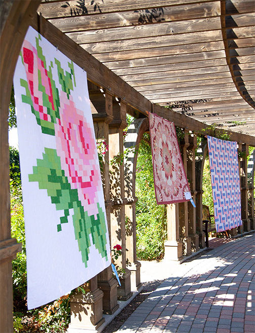 Rose quilt in the rose garden