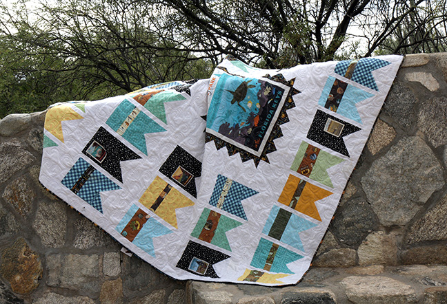 Summer Bunting Quilt with National Park Fabric