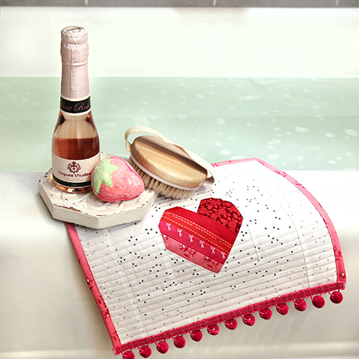 Valentine's washcloth project and bath accessories