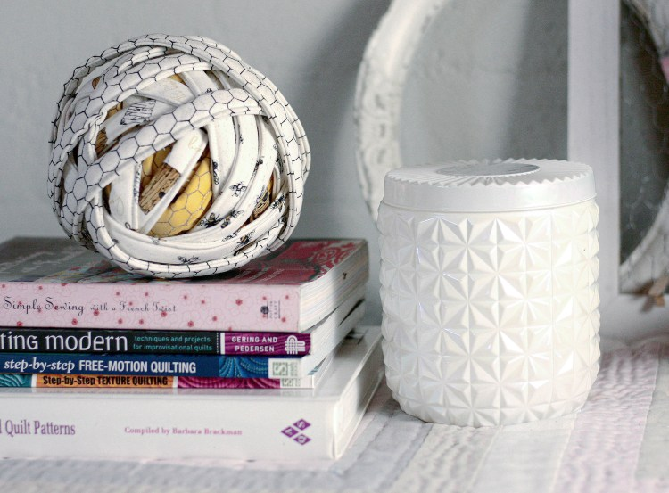 Ball of fabric rope