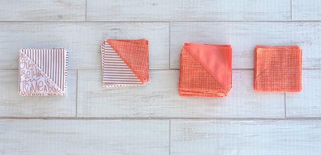 Half Square Triangles used in the Sparkling Table Runner Tutorial