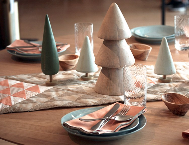 Spice up your table with a handmade table runner and decor from Crate and Barrel