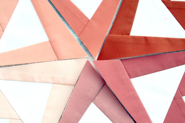Terracotta Fiori Quilt Pattern triangle points