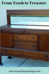 Mission style buffet makeover