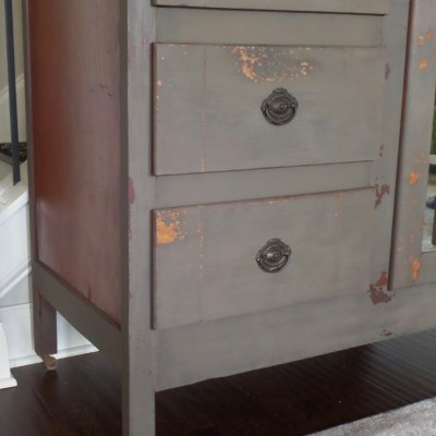 Antique Chiffarobe Makeover with Old Barn Milk Paint