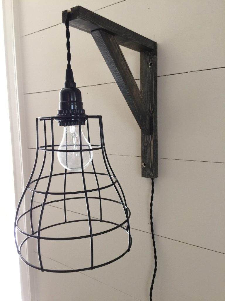diy cage pendant lights and brackets