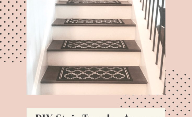 easy affordable diy stair treads