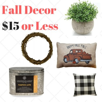 Top 10 Tuesday – Fall Decor for $15 or less!