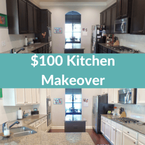 $100 kitchen cabinet paint makeover