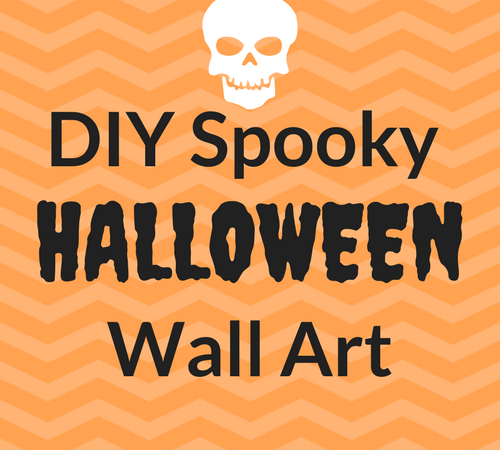diy spooky halloween art with dollar store supplies