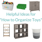ideas for how to organize toys