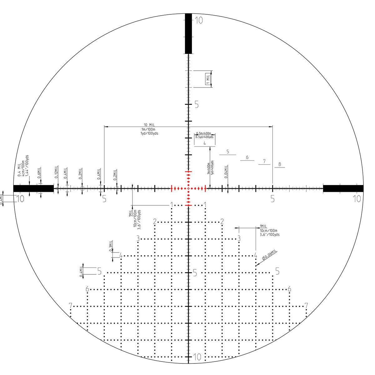 Kahles K624i 6 24x56mm Scope Ffp Amr Reticle