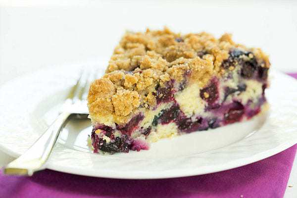 Top 10 List: Favorite Cake Recipes >> Blueberry Buckle | browneyedbaker.com