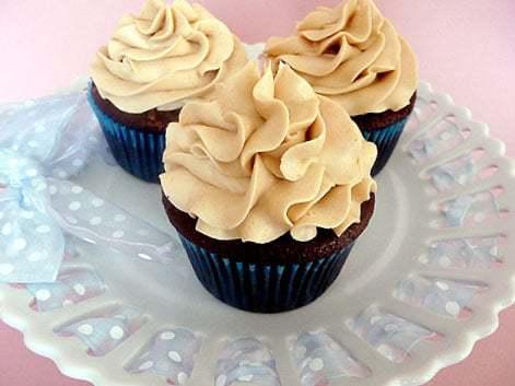 Mocha Cupcakes with Espresso Buttercream Frosting   browneyedbaker.com