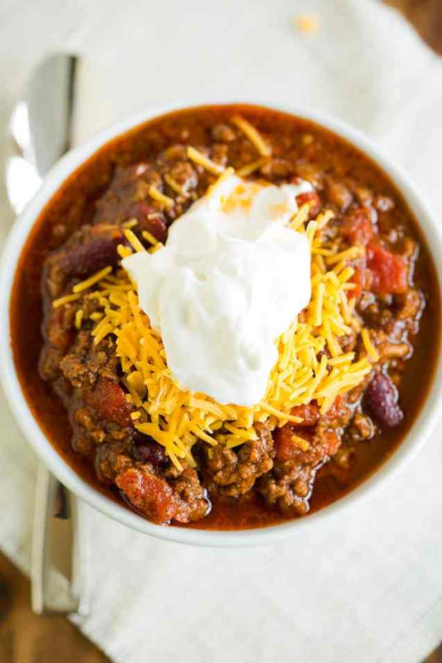 Easy dinner ideas, simple dinner ideas, classic beef chili