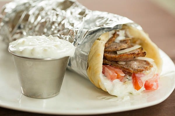 Greek Gyro with Tzatziki Sauce - Brown Eyed Baker