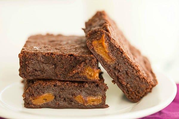 Dulce de Leche Brownies by @browneyedbaker :: www.browneyedbaker.com