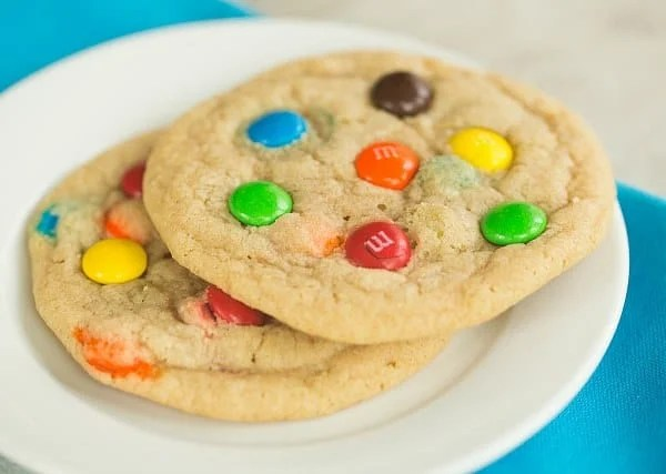 Soft and Chewy M&M Cookies   browneyedbaker.com #recipe