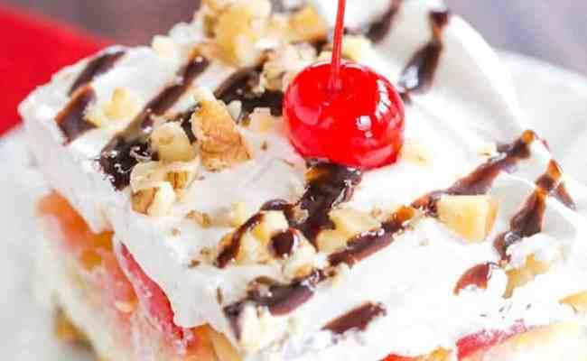 No Bake Banana Split Dessert Brown Eyed Baker