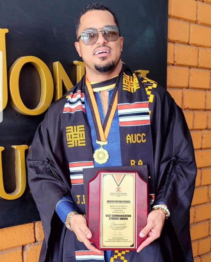 Van Vicker completes university 21 years after SHS, bags 3 top awards