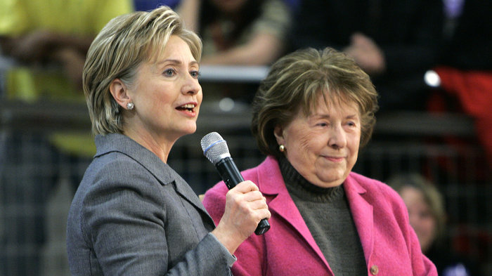 Hillary Clinton with her mother