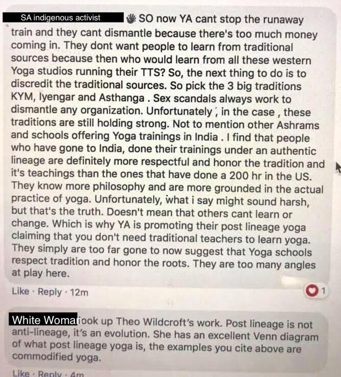 yoga colonization