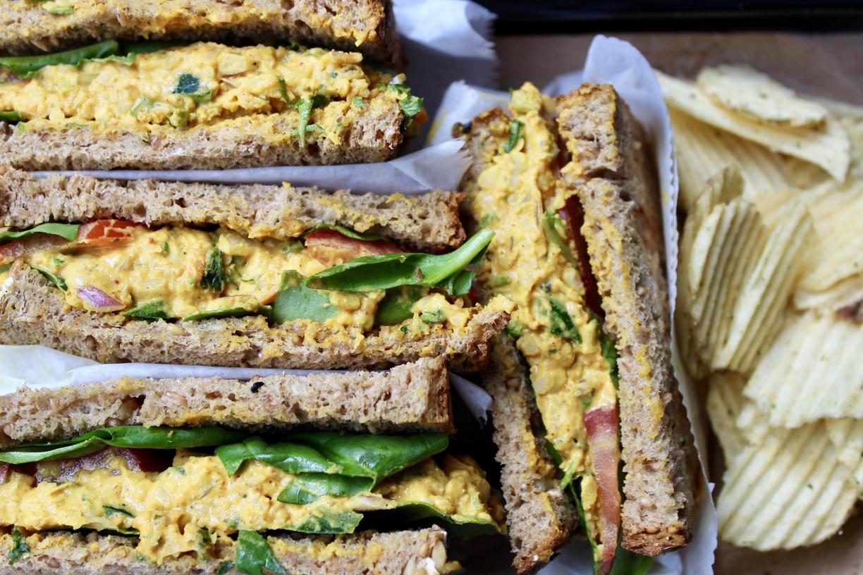Chickpea Curry Salad Sandwich