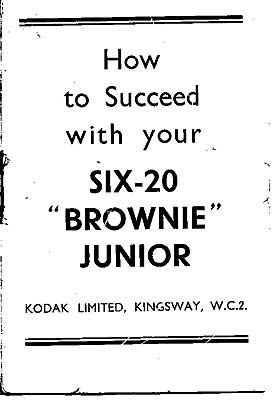 Six-20 Brownie Junior (UK Model) Manual