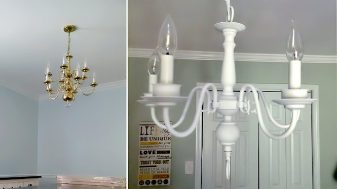 Cute How To Spray Paint A Chandelier