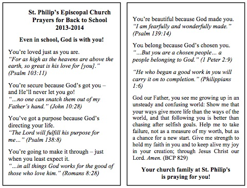 2013 Prayer Card