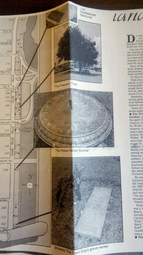 Riverfront Park Daytona Beach Map of historical treasures